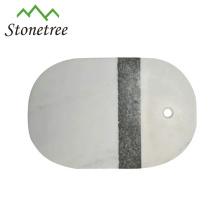 Tábua de queijos de pedra de mármore