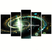 Contemporary Green Galaxy Canvas Wall Art / Outer Space Images Impression giclée sur toile / Abstract Spiral Cosmic Cloud Poster