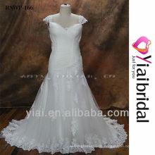 RSWP166 Kappen-Hülsen-Hochzeits-Kleid