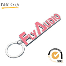Llavero con forma de letra de metal con color de logotipo relleno (Y03841)
