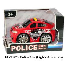 Luces y sonido del coche policía