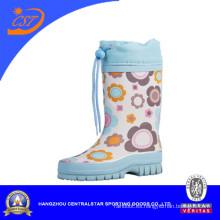 Bota de lluvia de goma para niños azul claro 90309