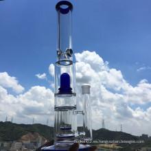 Hot Selling Honeycomb Showhead Precolator Stright tubo de hielo muescas de agua de humo de vidrio con Wholsesale Precio