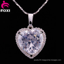 Shining Big Stone Heart Shape Pendants for Girls