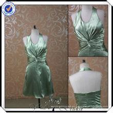 PP0114 Vestido atractivo corto verde oliva 2014 de la dama de honor de la muestra