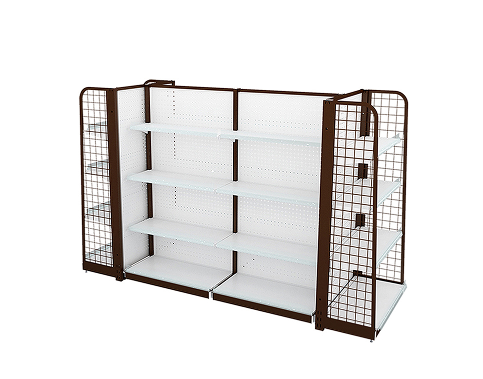 Steel Backhole Display Shelving