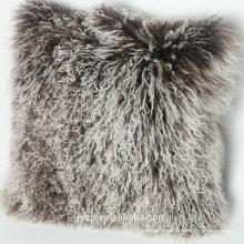 2017 en gros tibétain mongol agneau laine de fourrure housse de coussin