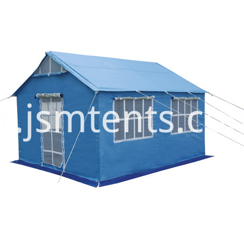 Refugee camp tent