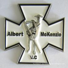 Insignia de pin de broche de metal personalizado en suave esmalte (insignia-198)