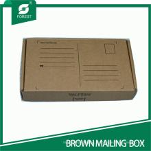 Rectángulo pequeño Kraft envío postal caja de cartón