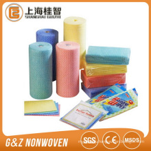 Waved spunlace nonwoven fabric for kitchen cleaning wipes