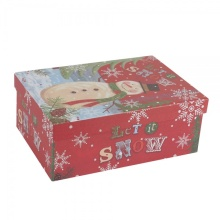 Christmas custom clothing packaging box