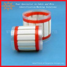 Cartão de identificação / manga de cabo de plástico