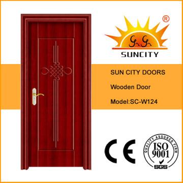 Используется межкомнатные деревянные двери в современном доме (СК-124-Ом)
