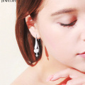 97350 Xuping moda nuevo diseño joyas de oro color de rodio pendientes de perlas bijouterie