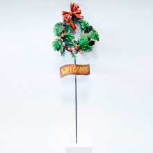 Christmas Metal Stake For Garden Decoration