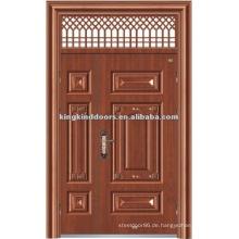 Ein und halb/Mutter und Sohn Stahl Sicherheits-Tür mit Fenster KKDFB-8012 für Tür-Design