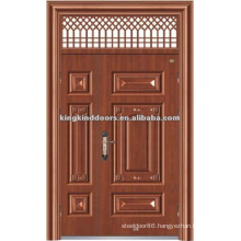 One and Half/Mother and Son Steel Security Door with Window KKDFB-8012 For Main Door Design