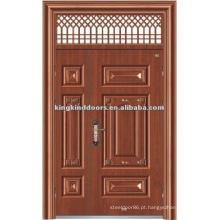 Um e meio de mãe e filho de aço da segurança porta com janela KKDFB-8012 para Design de porta principal