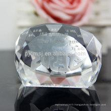Presse-papier en cristal de dôme de conception faite sur commande en gros