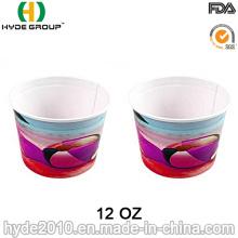 Taza de papel de helado desechable, papel tazón para sopa (12oz-5)