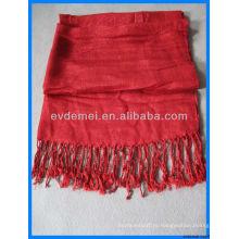 Элегантный цветной шарф из цельного цвета