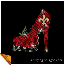 Top Selling High-Heeled Shoes with Glitter Fabric Motif Design Supplier (SP)