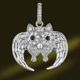 Owl 925 Sterling Silver Pendant Necklace Psa3354