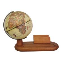 Виртуальный античный мир глобус на деревянной подставке