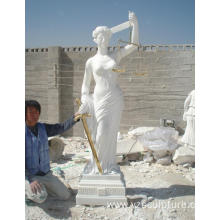 Large Size White Marble Religious Goddess of Justice  Statue