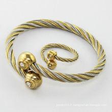 vente chaude!!! Bracelets de bracelets de mode 2014, bracelet en acier inoxydable coloré