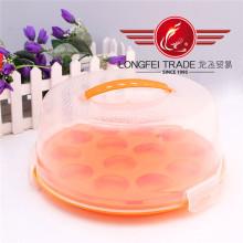 Boîtes rondes en plastique de gâteau de catégorie comestible