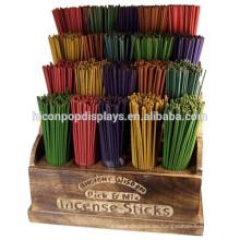 Duft Einzelhandel Store Förderung 4-Tier 20 Taschen Tabletop Solid Wood Stick Räucherstäbchen Displays