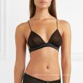 FDBL7111406 comfortable new deisgn full transparent sexy black 34 size triangle cotton modal women's bralette