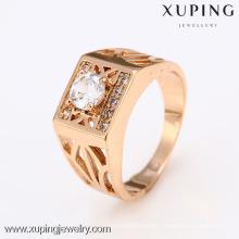 12418-Xuping superventas moderno nuevo estilo oro neutral anillos de joyería