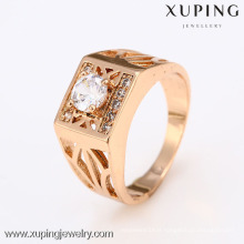 12418-Xuping Best Selling Modern New Style Gold Neutral Rings Jewelry