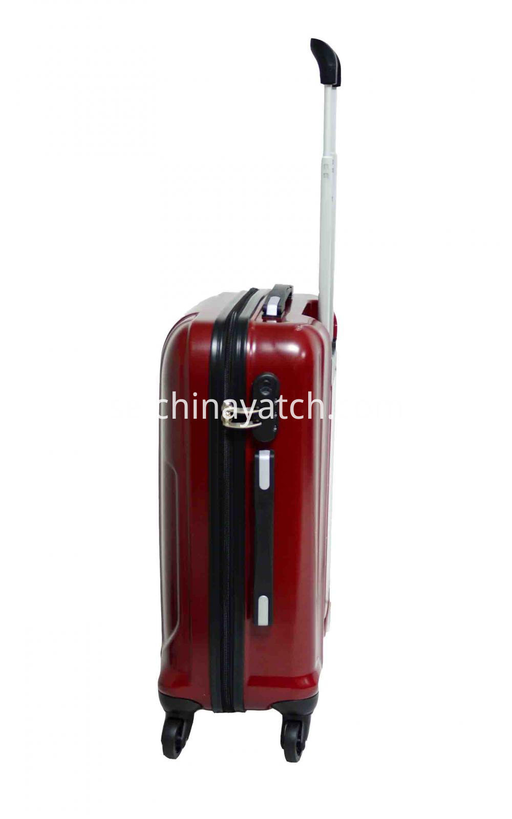 ABS&PC Rolling Trolley Case with Dull Sliver Aluminum Tube
