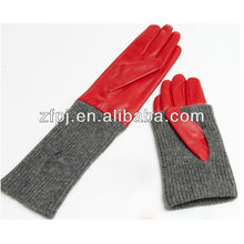 reversible ornament long sleeve cutton gloves