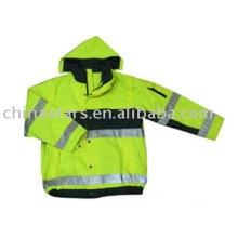 100% poliéster de alta visibilidade reflexiva roupas