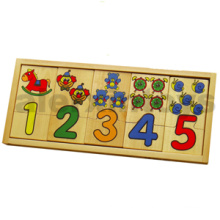 Wooden Number Puzzle for Education