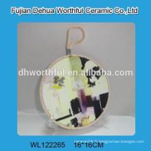 Vente chaude de magnifiques porte-pot en céramique avec cordage élévateur