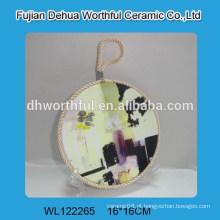 Portadores de pote cerâmicos bonitos da venda quente com corda de levantamento
