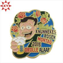 Мягкие эмалевые штыри отворотом металла аниме [значки] Логотип шаржа