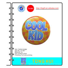 Cool Kid gedruckt Logo Metall Krawatte Abzeichen