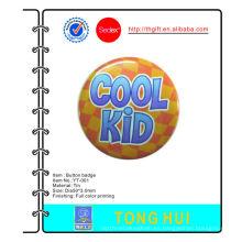 Niño fresco impreso logotipo metal Tie botón insignias