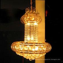 элегантный капля золото K9 хрустальная люстра потолочный светильник ЛТ-70034
