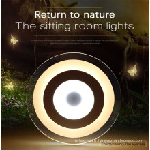 Éclairage en cristal rond ultra mince moderne de LED avec ce RoHS