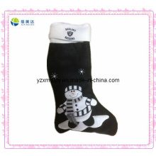 Hot Sell X-Mas Black Plush Sock
