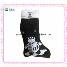Горячий продавать X-Mas черный плюшевый носок