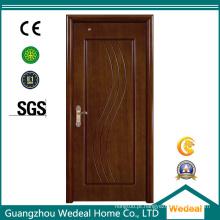 Porta interior de folheado de madeira MDF com várias opções de folheado
